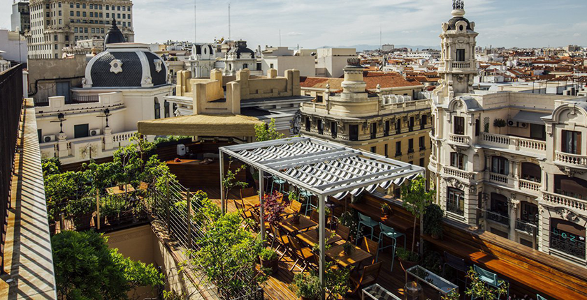 Rooftop de Madrid hipster