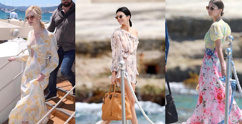 outfits para bajar a la playa tres chicas con vestidos de flores