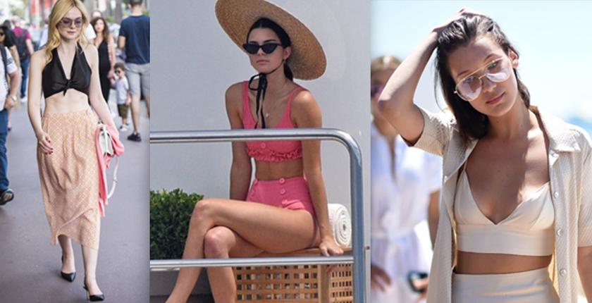 outfits para bajar a la playa tres chicas con tops de colores