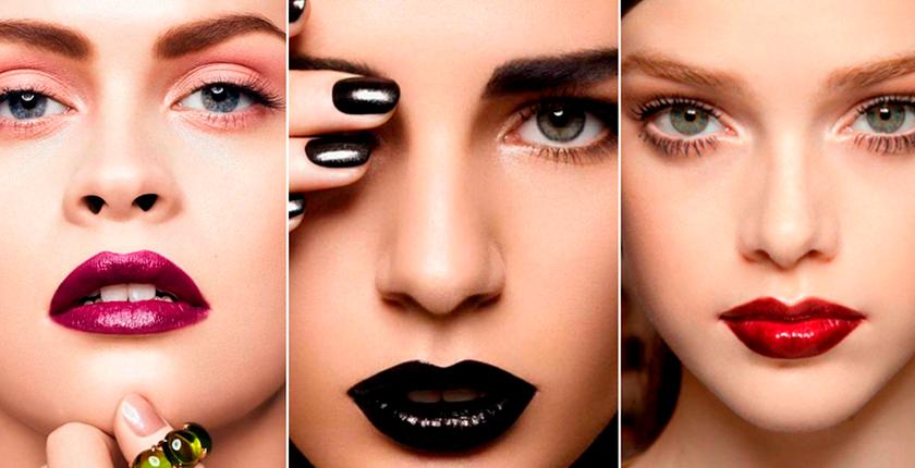 maquillaje para las noches de verano tres chicas con labios pintados