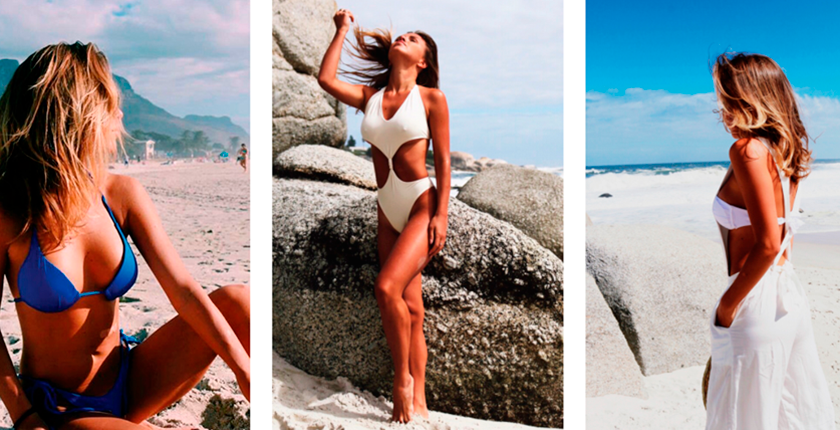 Tus bikinis favoritos tres chicas en la playa