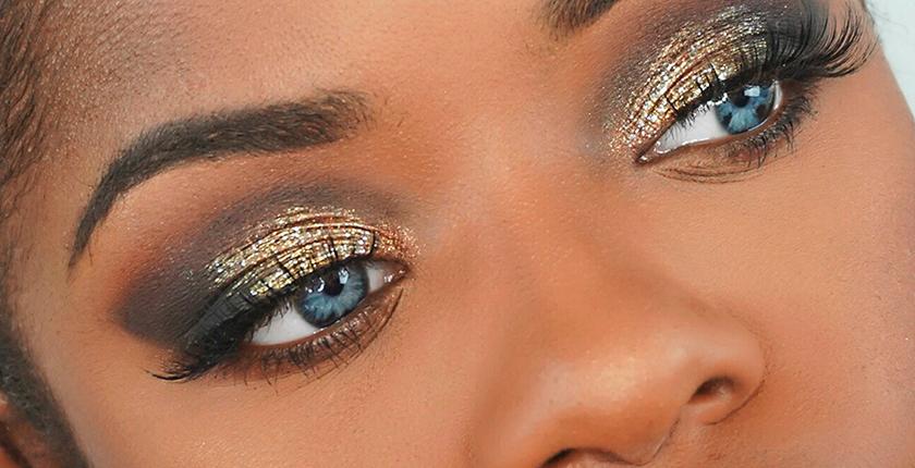 maquillaje para las noches de verano rihanna ojos dorados