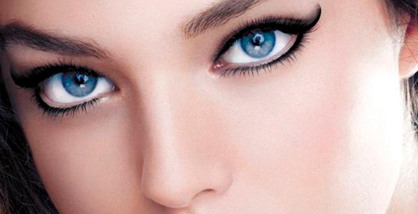maquillaje para las noches de verano chica con ojos azules